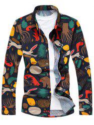 Cartoon Animal Print Long Sleeve Shirt