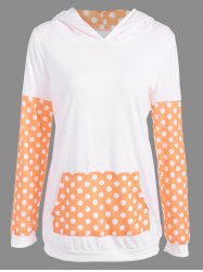 Polka Dot Imprimer Sweat à capuche -