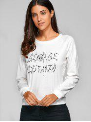 Halloween Graphic Print Raglan Sleeve Sweatshirt