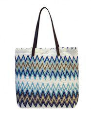 Splicing Zigzag Pattern Colour Block Shoulder Bag