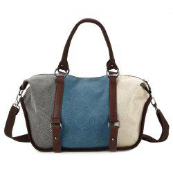 Metal Canvas Colour Block Tote Bag -