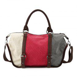 Metal Canvas Colour Block Tote Bag