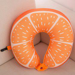 Traveling Office Health Care Neck Cushion Orange U Shape Pillow -