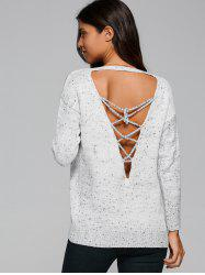 Loose Fit Back Criss-Cross Sweater -