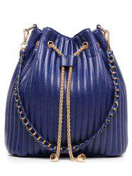Chain Drawstring Bucket Shoulder Bag