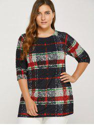 Plus Size Plaid Tee