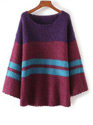 Color Block Chunky Sweater -