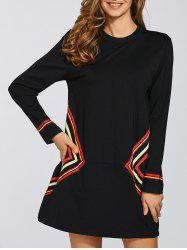 Casual Shift Dress With Sleeve -