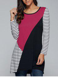 Striped Patchwork T-Shirt - STRIPE XL