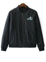 Quilted Embroidered Bomber Jacket -