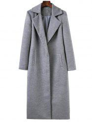 Lapel Collar Longline Cocoon Coat