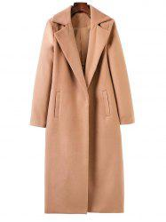 Lapel Collar Maxi Wrap Longline Cocoon Coat -
