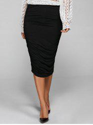 Ruched Bodycon Skirt -