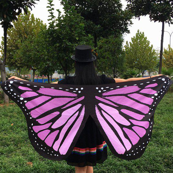 Butterfly Wings Shape ScarfACCESSORIES<br><br>Color: LIGHT PURPLE; Scarf Type: Scarf; Group: Adult; Gender: For Women; Style: Fashion; Material: Polyester; Season: Fall; Scarf Length: 65CM; Scarf Width (CM): 145CM; Weight: 0.150kg; Package Contents: 1 x Scarf;