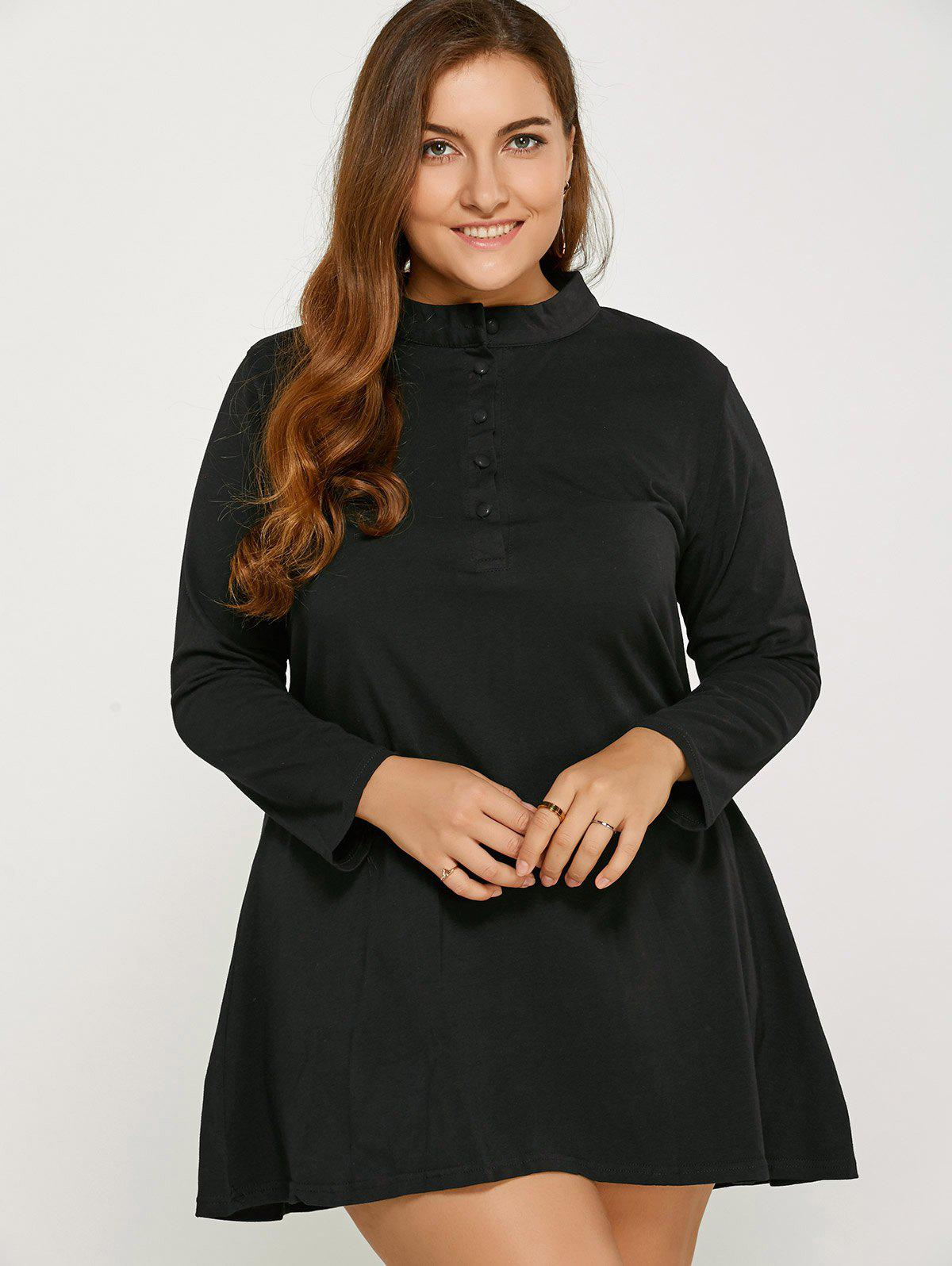 Long Sleeve Plus Size Dress