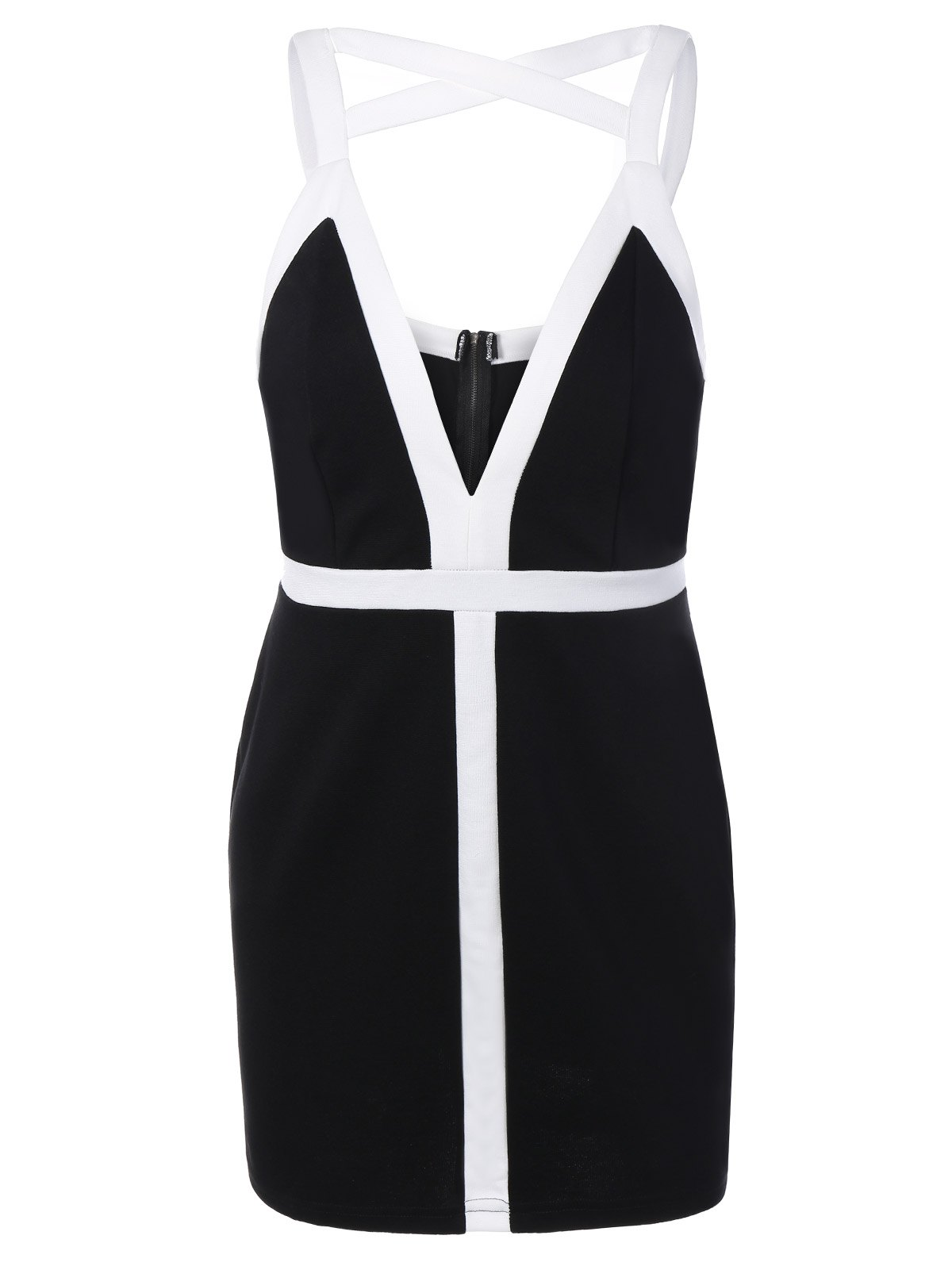 Outfits Plunging Neck Strappy Bodycon Dress