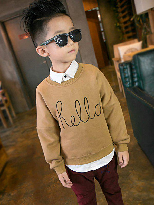 Buy Casual Boys Crew Neck Letter Print Sweatshirt