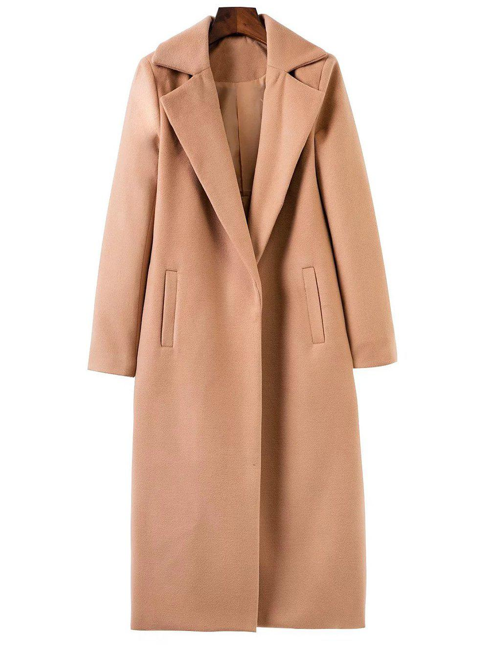 Affordable Lapel Collar Maxi Wrap Longline Cocoon Coat