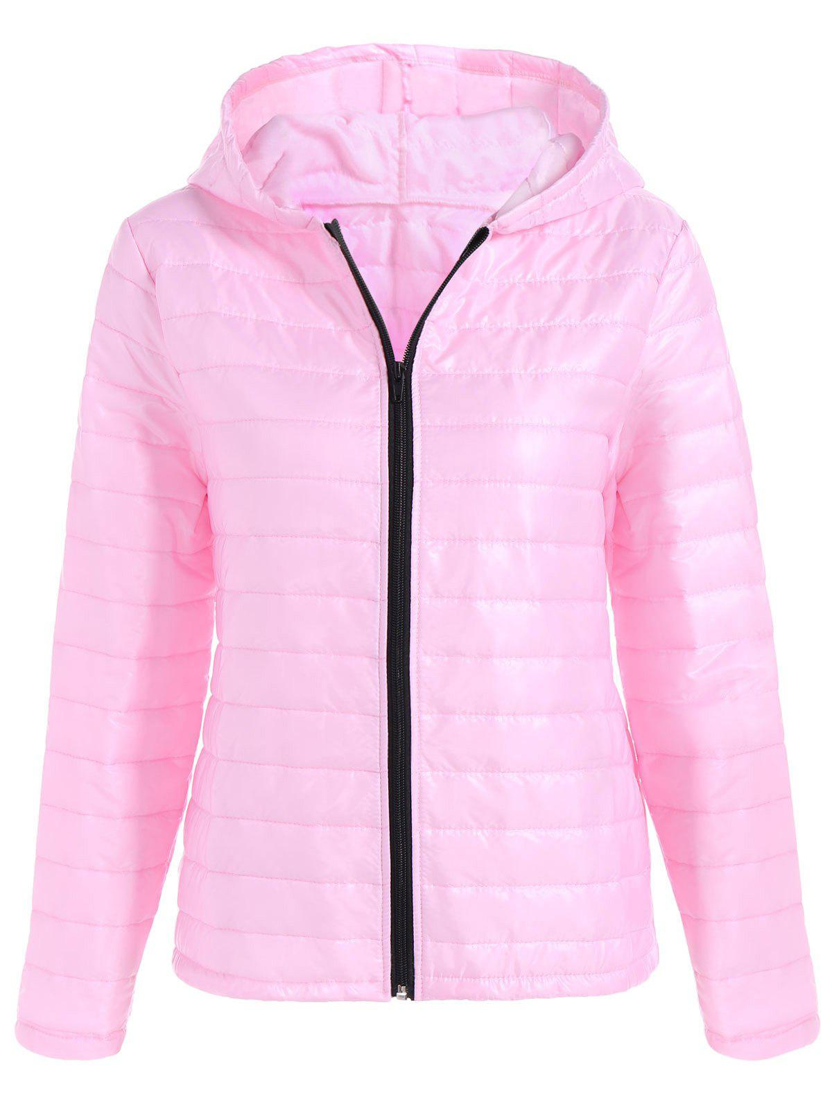 Outfit Slim Quilted Winter Jacket with Hood
