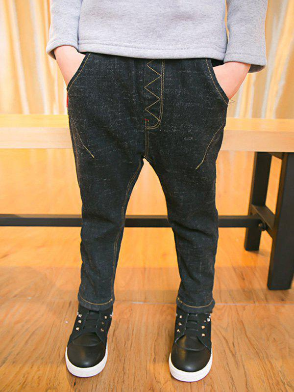Latest Casual Boys Elastic Waist Thicken Jeans