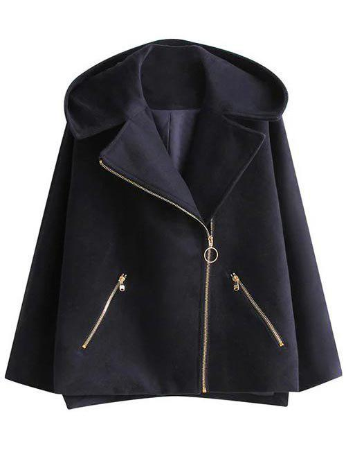 Discount Hooded A Line Coat