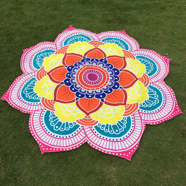 Buy Multicolor Indian Mandala Lotus Shape Beach Throw