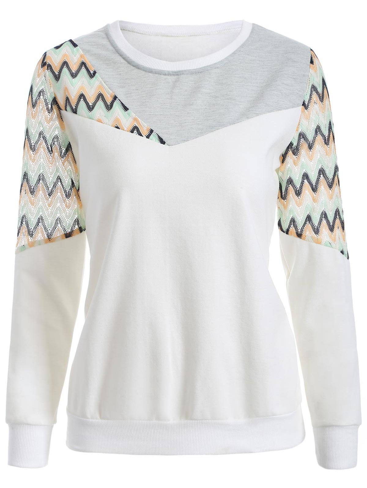 Outfit Crew Neck Panelled Sweatshirt