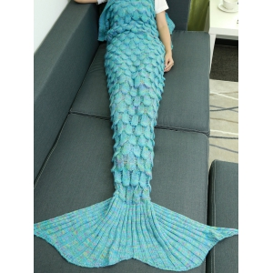 Warmth Hollow Out Design Knitted Mermaid Tail Blanket
