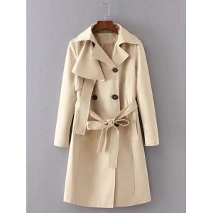 Belted Button Up Long Trench Coat