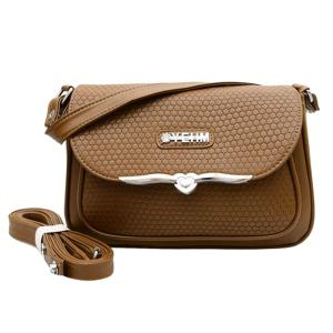 Embossing Metal PU Leather Crossbody Bag