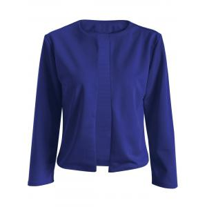 Collarless Slim  Fit Short Jacket