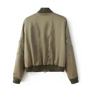 Stand Neck Multiple Zippers Bomber Jacket -