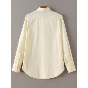 Embroidered Fitting Shirt - OFF WHITE L