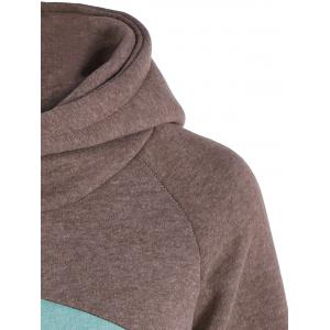 Casual Sweat à Capuche Color Block Manches Longues -