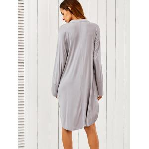 Plunging Neck High Low Dress -
