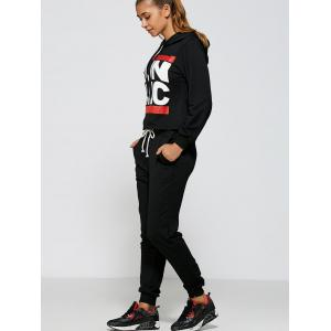 Casual Run Dmc Pattern Hoodie and Pants Twinset -