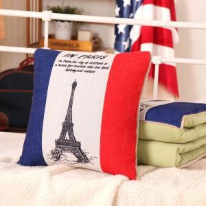 Dual Purpose Couch Cushion Air Conditioning Pillow Blanket - COLORMIX