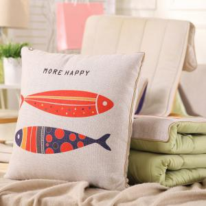 Dual Use Cartoon Folding Office Couch Cushion Nap Pillow Quilt - COLORMIX