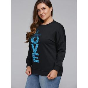Sequined Letter Thickening Sweatshirt -