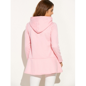 Sequined Heart Thick Fleece Dressy Hoodie -