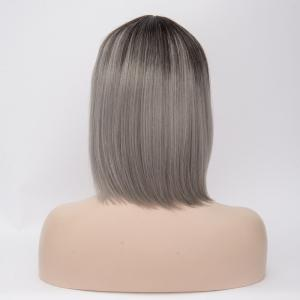 Colormix Short Straight Inclined Bang Synthetic Wig -