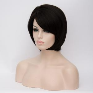 Prevailing Short Side Bang Straight Synthetic Wig -