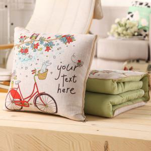 Wholesale Two Use Office Nap Cushion Air Condition Pillow Blanket -