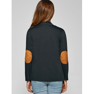Asymmetric Patched Short Cardigan -
