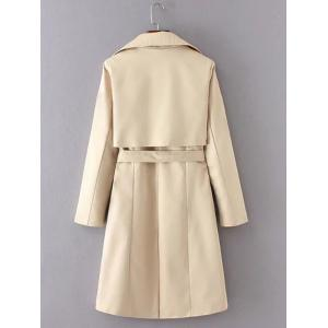 Belted Button Up Trench Coat - KHAKI M