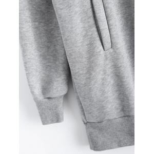 Pullover Hoodie with Pockets - GRAY 2XL