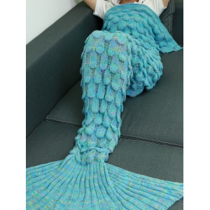 Warmth Hollow Out Design Knitted Mermaid Tail Blanket -