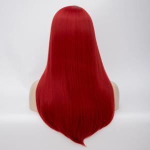 Long Side Parting Straight Tail Adduction Synthetic Wig -