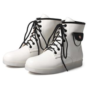 Lights Up Led Luminous Ankle Boots - WHITE 39