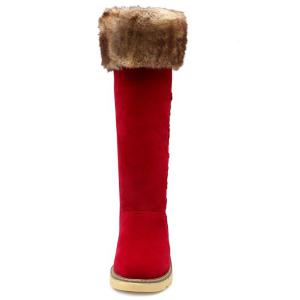Winter Warm Fur Suede Mid Calf Snow Boots -